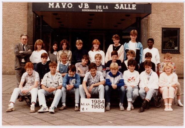 051712 - Middelbaar Voortgezet Onderwijs. MAVO St. Jean Baptiste de la Salle. klas 2c. Schooljaar 1984-1985