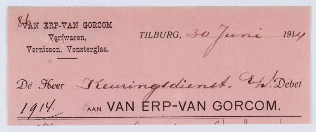 060051 - Briefhoofd. Briefhoofd van Van Erp Van Gorcom, fabrikant van Engelsche en Hollandsche lakken en vernissen, verfwaren. Groothandel in spiegel- en vensterglas