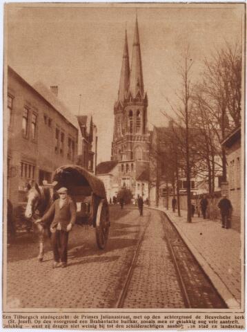 021489 - Krantenknipsel. Prinses Julianastraat anno 1927, gezien in de richting van de Heuvel