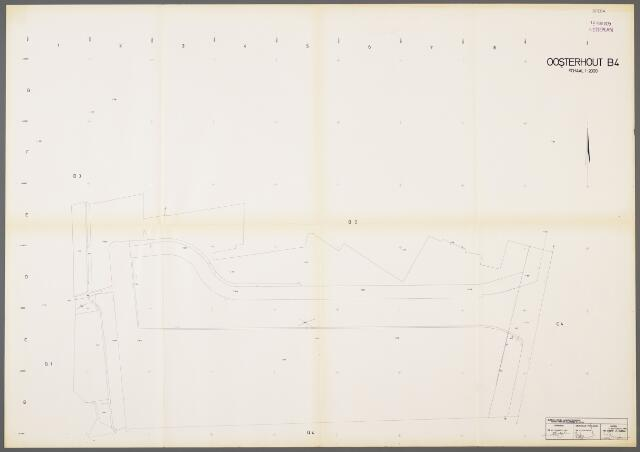 104995 - Kadasterkaart. Kadasterkaart / Netplan Oosterhout. Sectie B4. Schaal 1: 2.000.