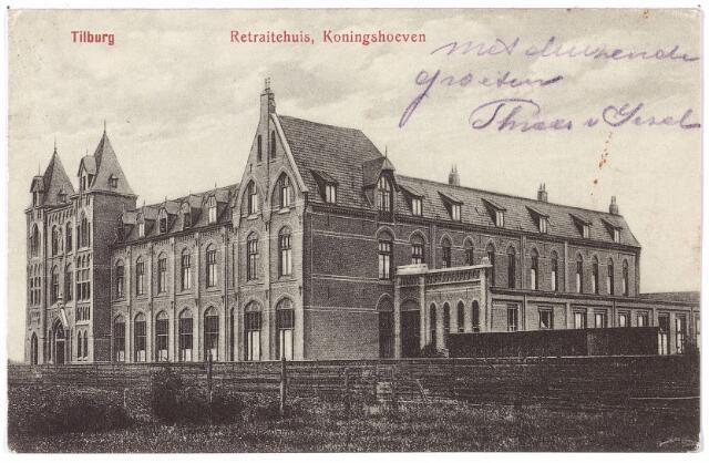 001379 - Retraitehuis voor vrouwen en meisjes en het klooster van O.L.V. van het Cenakel aan de Koningshoeven, nu Kempenbaan, is geopend in 1908. De eerste steen werd gelegd in november 1907.