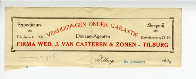 604237 - Briefhoofd Firma Wed. J. van Casteren & zonen Tilburg