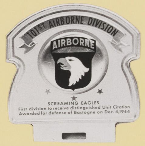 077453 - Tweede wereldoorlog 1940-1945 Embleem van de 101e Airbonre divisie.