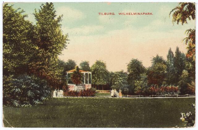 002905 - Wilhelminapark met muziekkiosk.