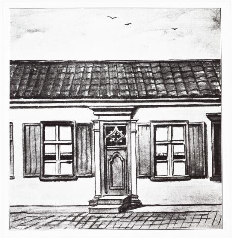 009359 - Tekening. Kloosters. Tweede huisje van de Zusters van Liefde aan de Oude Dijk in de Nieuwlandstraat te Tilburg.