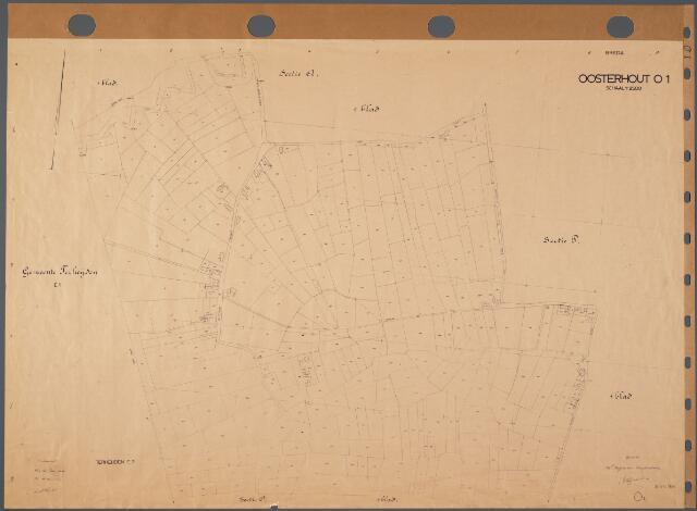 104850 - Kadasterkaart. Kadasterkaart Oosterhout Sectie O1, Schaal 1 : 2.500
