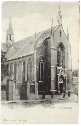 000466 - Gasthuisstraat met kerk H. Vincentius a Paulo (Paterskerk)