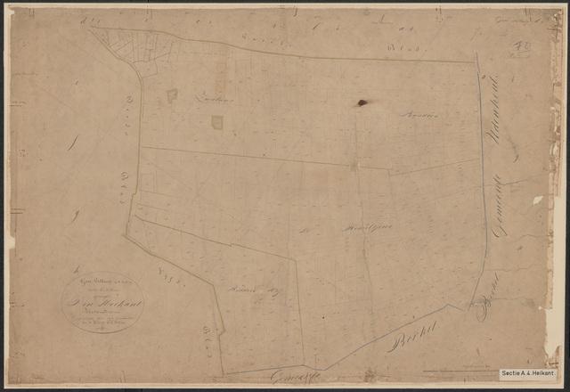 652575 - Kadasterkaart Tilburg, Sectie A (Heikant), blad 4. Schaal 1:2500. z.j.