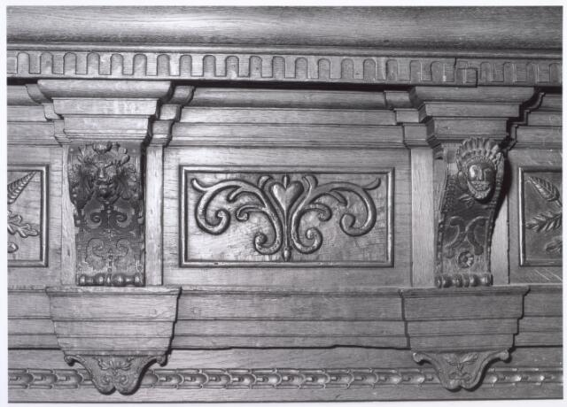 017920 - Detail van het interieur van hofstede De Blaak (jachtkamer)
