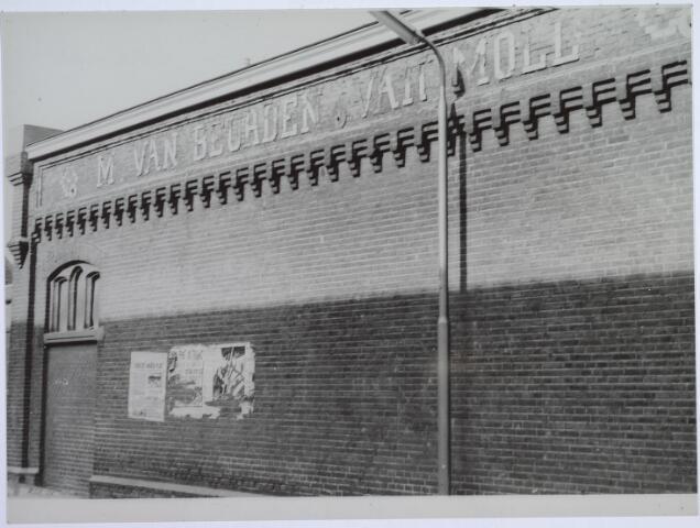 025795 - Textiel. Gevel van wollenstoffenfabriek Van Beurden -  Van Moll aan de Leo XIII-straat
