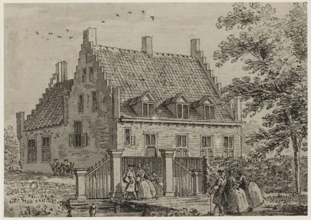 103499 - Slotje Borselen.Foto van tekening vervaardigd door Cornelis Pronk