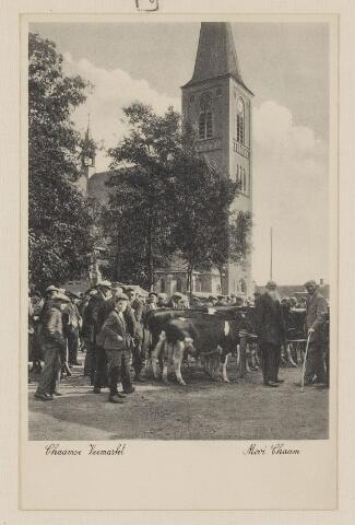 083403 - Jaarlijkse veemarkt in de jaren dertig van de 20ste eeuw