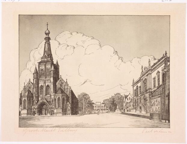 036126 - Stadhuisplein.  Grote Markt Tilburg