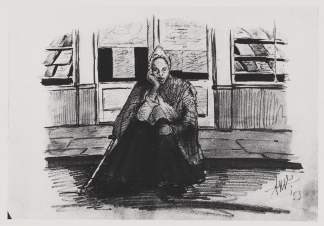 076921 - Tekening. Getekende portretten door Mr. de Balbian Verster (1830-1915). 26e jaargang 1975