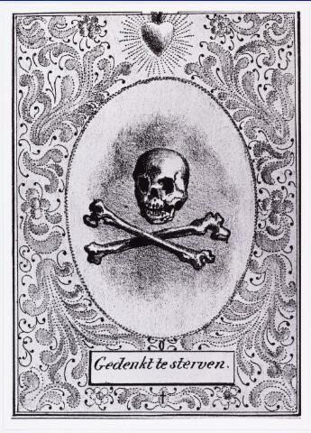 008222 - Bidprentje. Voorkant bidprentje van Thomas Josephus van Dooren, overleden Tilburg, den 4 december 1836, in den ouderdom van 82 jaren en 10 maanden.