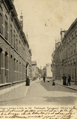 652732 - Tilburg, poststempel 1904 Verlengde Tuinstraat Spelend kind midden op straat.