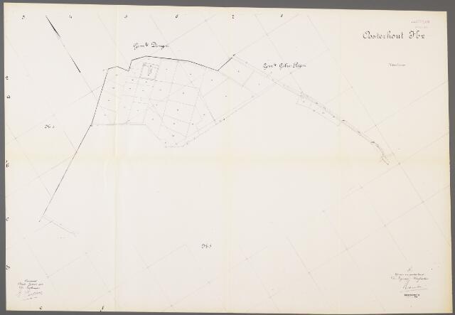 104964 - Kadasterkaart. Kadasterkaart / Netplan Oosterhout. Sectie H2. Schaal 1: 2.500.