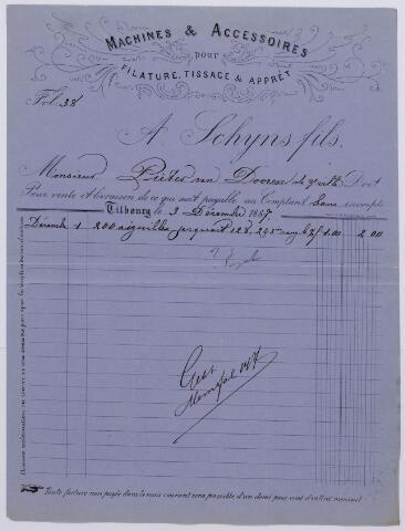 061088 - Briefhoofd. Nota van A. Schijns fils, Wilhelminapark 34 voor Pieter van Dooren