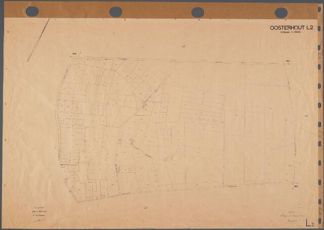 104817 - Kadasterkaart. Kadasterkaart Oosterhout. Sectie L2. Schaal 1: 2.500.