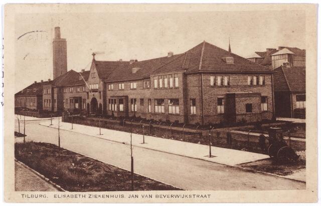 001306 - Elisabethziekenhuis. Gezondheidszorg. Ziekenhuizen. St. Elisabethziekenhuis, voorgevel aan de Jan van Beverwijckstraat.