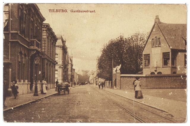 000460 - Gasthuisstraat, rechts het atelier voor kerkelijke kunst van J.A. Verbunt.