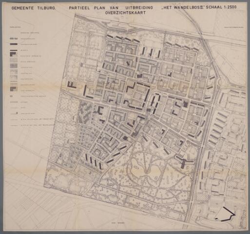 059441 - Kaart. Stadsuitbreiding. Bestemmingsplan. Het Wandelbos II, 1964