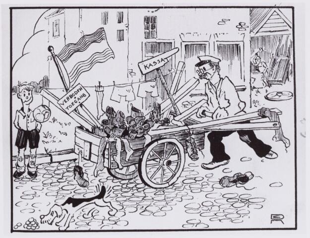 054004 - Sport. Voetbal. Willem II. In de beginjaren werd regelmatig van veld gewisseld. Alles op de kar van de Piusstraat naar de Bosscheweg