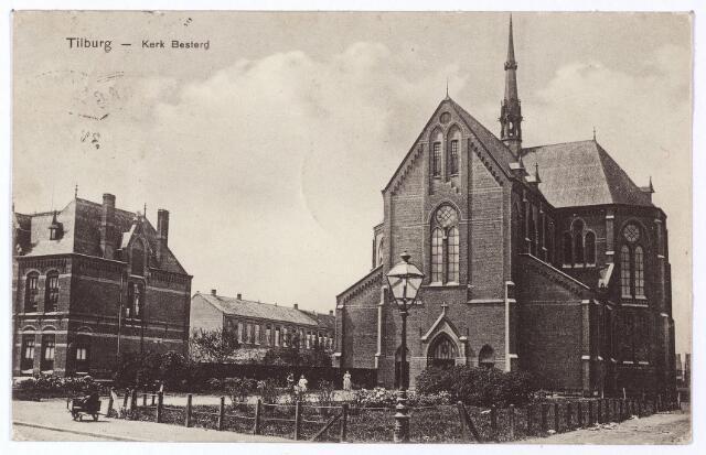 001467 - Koestraat, kerk en pastorie van de Besterd (H. Leonardus en gezellen).