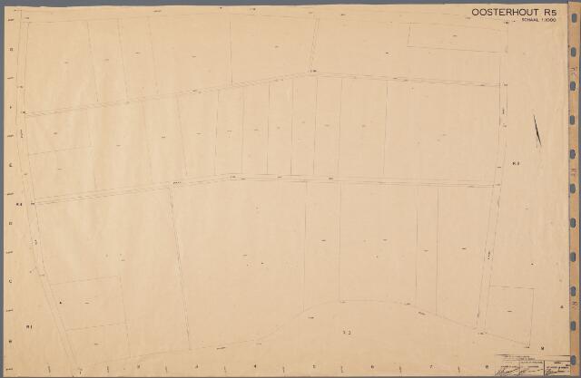 104890 - Kadasterkaart. Kadasterkaart Oosterhout Sectie R5, Schaal 1 : 1.000