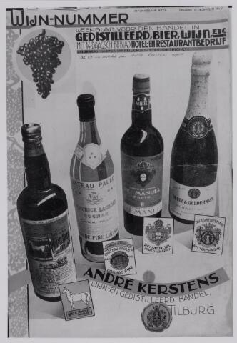 040332 - Omslag van het weekblad voor de handel in gedistileerd, bier, wijn etc., het wijnnummer met een bijdrage over de firma wijnhandel Andre Kersten.