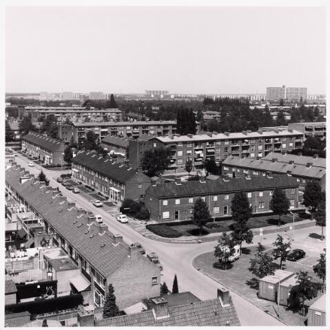 036580 - Panorama van Tilburg vanaf de flat aan de Postelsehoeflaan