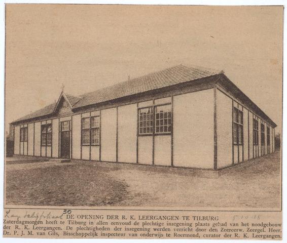 027025 - Lange Schijfstraat 30. Opening der R.K. Leergangen, Tlburg.
