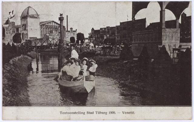 """003291 - Rondvaart door """"de stad Venetië"""" op de tentoonstelling Stad Tilburg."""