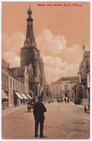 001876 - Oude Markt voorheen de Markt met kerk van het Heike en voormalig gemeentehuis.