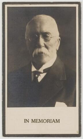 078170 - Bidprentje. Bernardus Joannes Adolphus van Oppenraaij. (geboren te Bemmel op 2 october 1849, overleden te Oisterwijk op 15 febr.1932.
