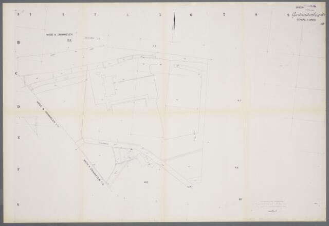 059399 - Kadasterkaart. Kadasterkaart Geertruidenberg A1