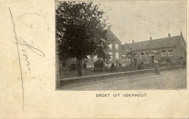 652718 - Udenhout Groet uit Udenhout, vrouw met poffer. Henri. Aan Corn. van der Linden, Kaatsheuvel. Postzegel van 2 1/2 cent Udenhout  -- -- 02. Boven: poststempel van Kaatsheuvel