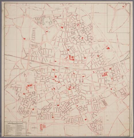 059449 - Plattegrond van Tilburg.