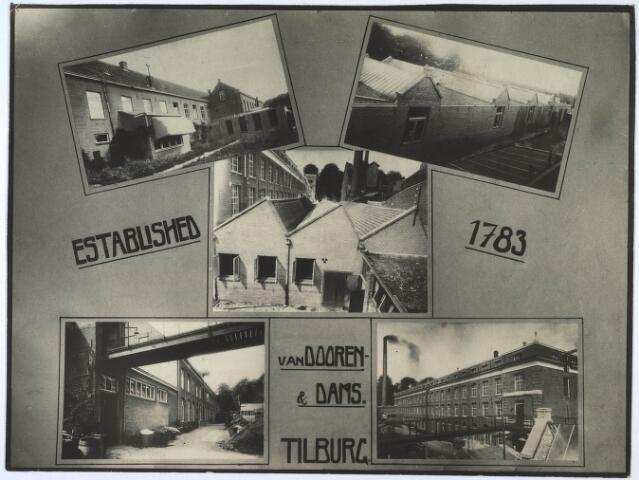 024552 - Fotocollage van de fabriek van Van Dooren & Dams in 1933, gemaakt ter gelegenheid van het 50-jarig bestaan