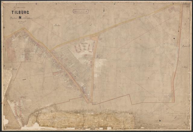 652621 - Kadasterkaart Tilburg, Sectie N (Veldhoven), blad 2. Schaal 1:1000. 1897.