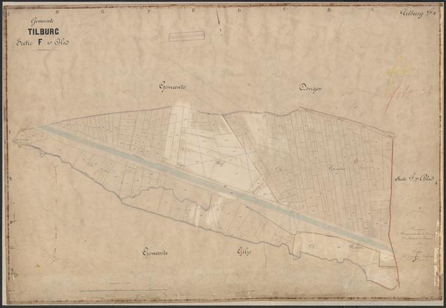 652604 - Kadasterkaart Tilburg, Sectie F (Haansche Hoeven), blad 4. Schaal 1:2500. 1889.