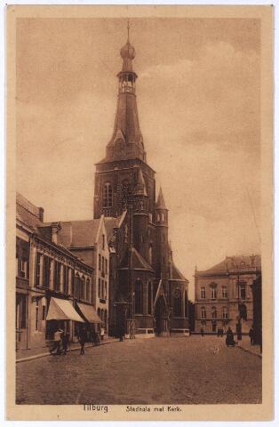 001874 - Oude Markt voorheen de Markt met kerk van het Heike en voormalig gemeentehuis.