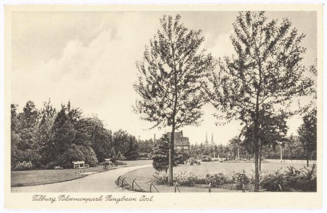 040009 - elisabethziekenhuis. Park aan de Gerard van Swietenstraat, hoek Ringbaan-Oost. Rechts het St. Elisabeth Ziekenhuis
