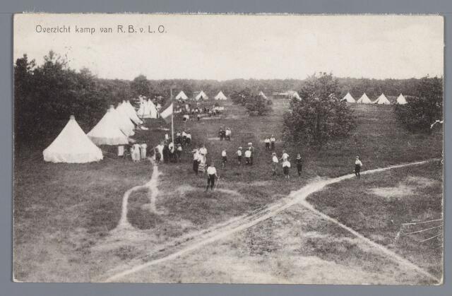 058074 - Rijen, Kamp van de Rotterdamse bond voor lichamelijke opvoeding. Vacantiekamp voor kinderen opgericht in 1924,  Kampbeheerder H.A. Koert.