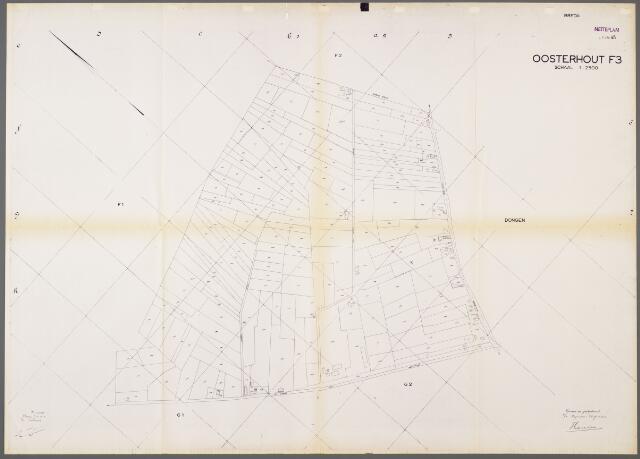 105010 - Kadasterkaart. Kadasterkaart Netplan Oosterhout Sectie F3, Schaal 1 : 2.500