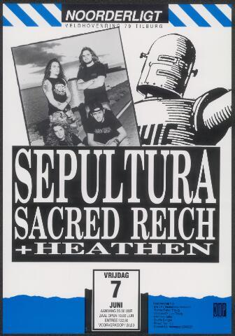 650274 - Noorderligt. Sepultura. Support act: Sacred Reich en Heathen