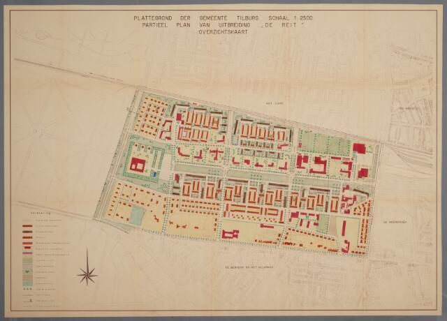 059436 - Kaart. Stadsuitbreiding. Bestemmingsplan. De Reit, 1959