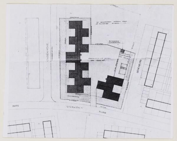 100774 - Tekening. Onderwijs. Nieuwbouw school Oudenhove.