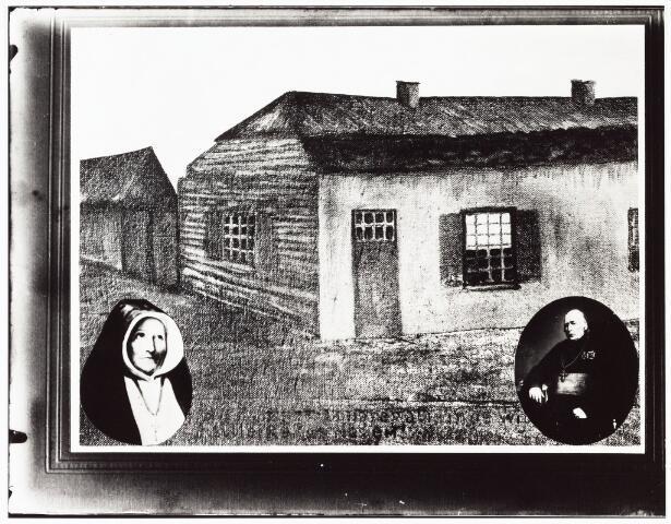 009354 - Tekening. Kloosters. Zusters van Liefde aan de Oude Dijk te Tilburg. Eeuwfeest van de zusters