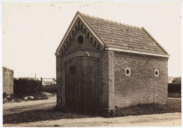 035372 - Het brandspuithuisje aan de Nieuwe Goirleseweg, thans Winkler Prinsstraat (stond bij de kruising van de Edisonlaan).